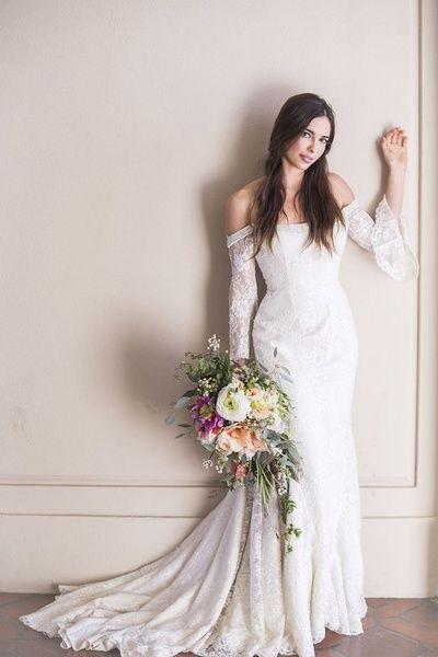 Wedding dresses,off shoulder wedding dress,lace wedding dress,mermaid bridal gown,gorgeous wedding dress,2016 wedding dresses,PD190128 from Focusdress