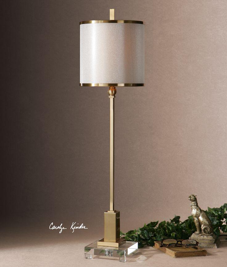 Uttermost Villena Brass Buffet Lamp   29940-1 luxedecor.com $249