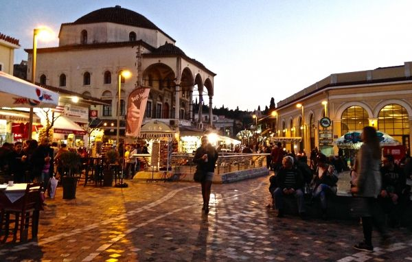 Evening at Monastiraki Square