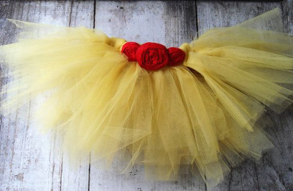 Beauty and the Beast Belle Inspired Tutu Child Size on Etsy, $20.00