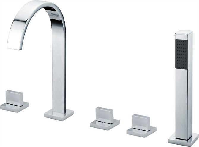 2016 Limited Real Ceramic Contemporary -solid Finishing 5 Holes Square Bathtub Faucet Mixer Tap-wholesale-2409 - ICON2 Luxury Designer Fixures  2016 #Limited #Real #Ceramic #Contemporary #-solid #Finishing #5 #Holes #Square #Bathtub #Faucet #Mixer #Tap-wholesale-2409