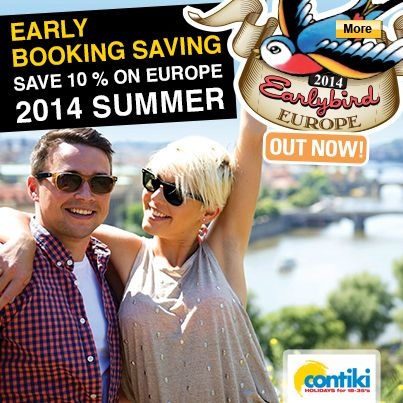 Save 10% on Contiki Europe 2014 Summer Tours #Contiki #Europe #StudentFlights #GoYourOwnWay #Travel