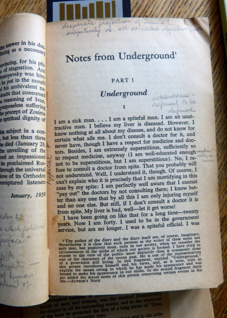 dostoevskys notes from underground essay Essays and criticism on fyodor dostoevsky's notes from underground - notes from the underground fyodor dostoevsky.