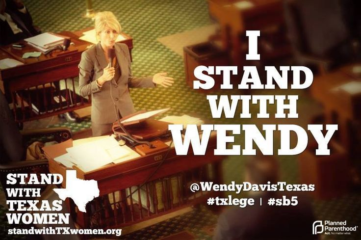 Stand with Wendy Davis Texas