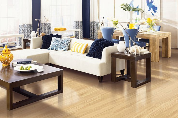 Jasmine Laminate, Honey Wheat Bamboo Laminate Flooring | #MohawkFlooring #laminate