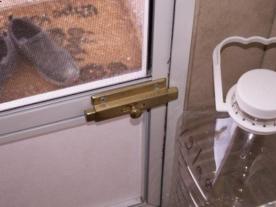 RV Door latch~spend a few dollars on this to have extra locking on the door