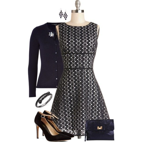"""Eyelet Dress"" by kswirsding on Polyvore"