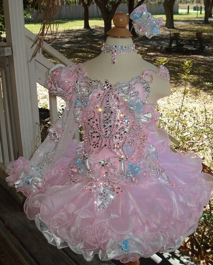 Mega Glitz Pageant Dresses | National Glitz Pageant Dress Custom Order by Nana Marie Designs