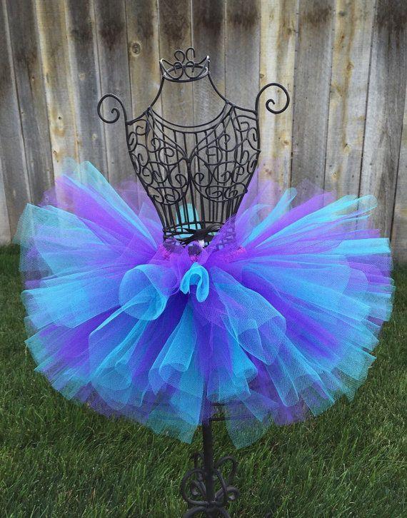 Aqua Purple Tutu, Baby Tutu, Infant Tutu, Toddler Tutu, Newborn Tutu, Birthday Tutu, Dance Tutu, Bubble Guppies Tutu, Purple and Aqua Tutu