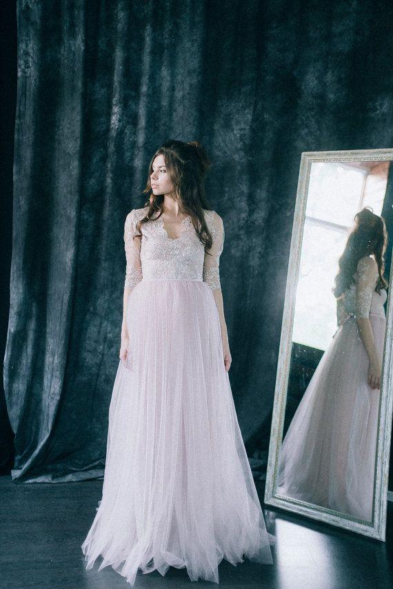 Wedding dress Blush dream Blush bridal gown light by LiluBridal