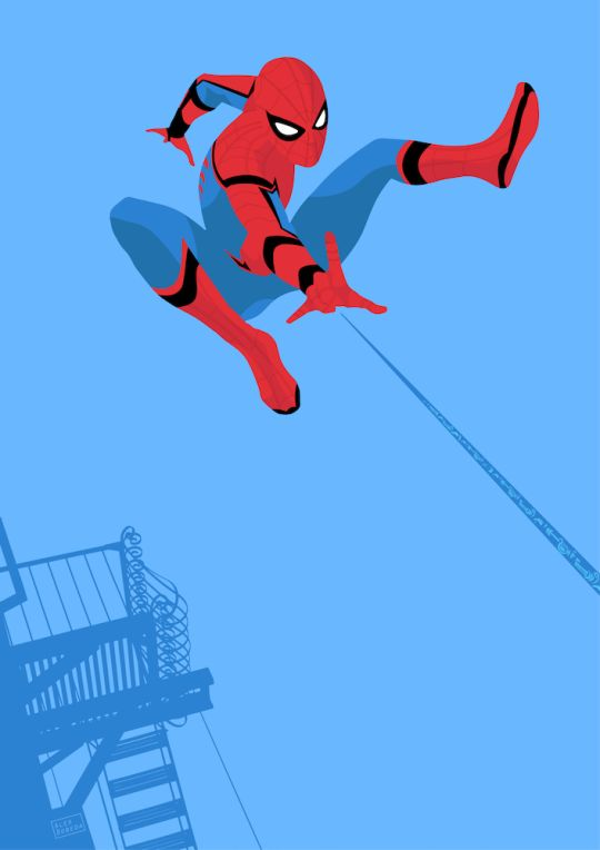spider-man homecoming print by @muchmoji