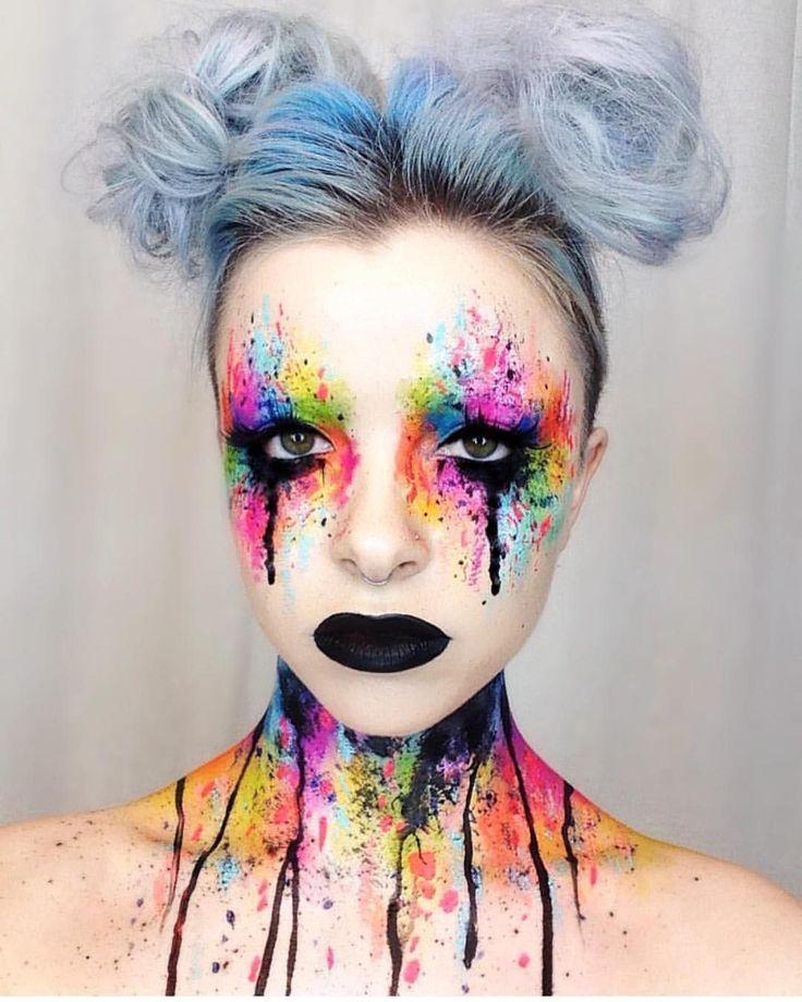 @Kimberleymargarita_ is such an inspiration! She created this incredible look using #sugarpill and @meltcosmetics eyeshadows, #makeupforever Flash palette, #mehron Paradise Paint and @jeffreestarcosmetics Weirdo lipstick.
