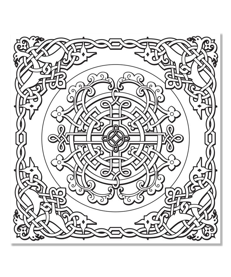 Peter Pauper Press Celtic Designs Artists Coloring Book