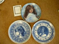 Royal commemorative plates Wedgwood Queen Elizabeth II Franklin Mint Queen Mum