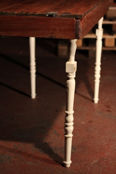 Stair spindles pallet tables and stairs on pinterest for Wood balusters for tables