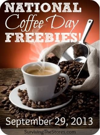 """National Coffee Day Freebies"" Free Coffee at most locations...enjoy, Coffee Lovers~"