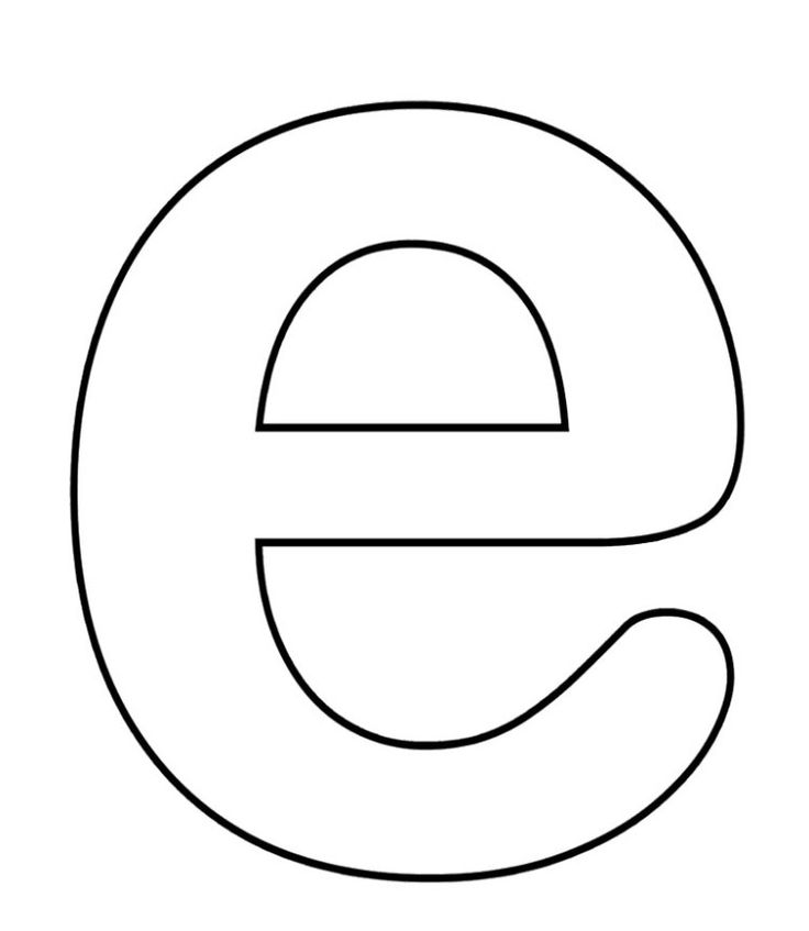 E For Small Alphabet Coloring Pages