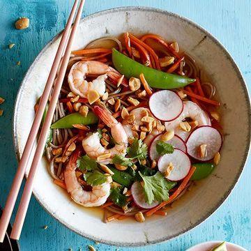 Veggie-and-Shrimp Noodle Bowl