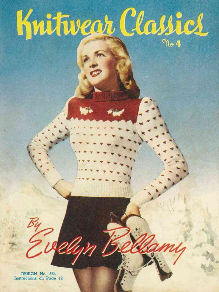 Vintage Christmas Jumper Knitting Pattern : Knitwear Classics by Evelyn Bellamy, 12 designs c.1940s - Vintage Knitting Pa...
