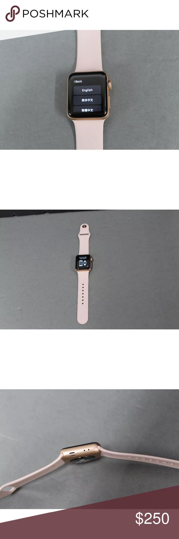 Apple Watch Series 3 Gold w/ Pink Band If you are interested in buying this item, contact me via telephone 201-310-9371. Also, keep in mind that we take payments through a optional third party application. apple Accessories Watches