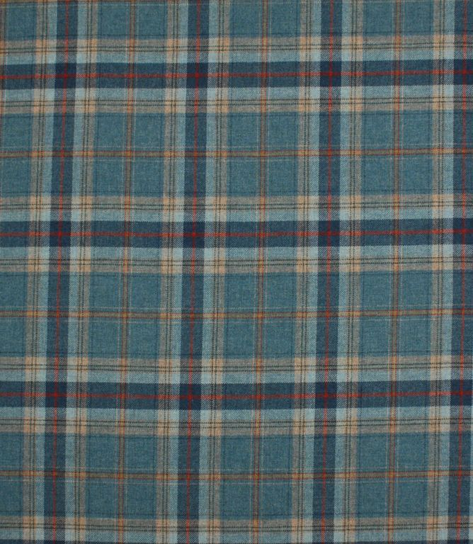 This blue wool tartan fabric is great for curtains, blinds and upholstery. 100% wool so inherently fire retardant. Looks amazing made up as curtains, especially interlined. We have our Just Fabrics wingback chair range covered in these Balmoral tartans, great for upholstery very hard wearing.   http://www.justfabrics.co.uk/curtain-fabric-upholstery/concorde-balmoral-fabric/