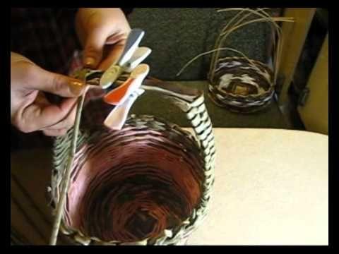 Плетение из газет ручек. Видео мастер-класс. Часть I. - Плетение из газет