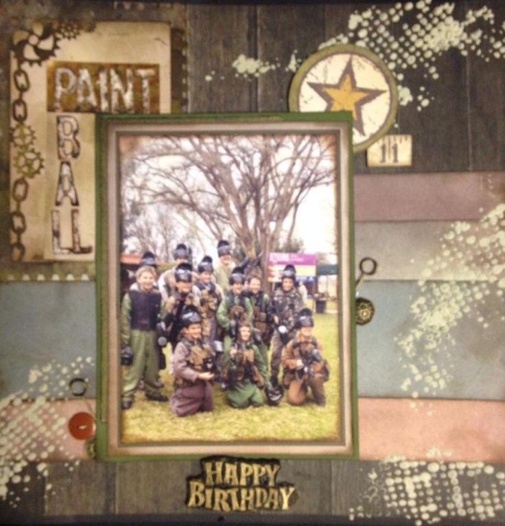 Happy 11th Birthday - Paint Ball Fun
