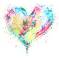watercolor heart tattoo - Google Search