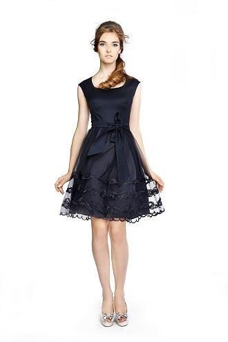 Коктейльное кружевное платье выкройка