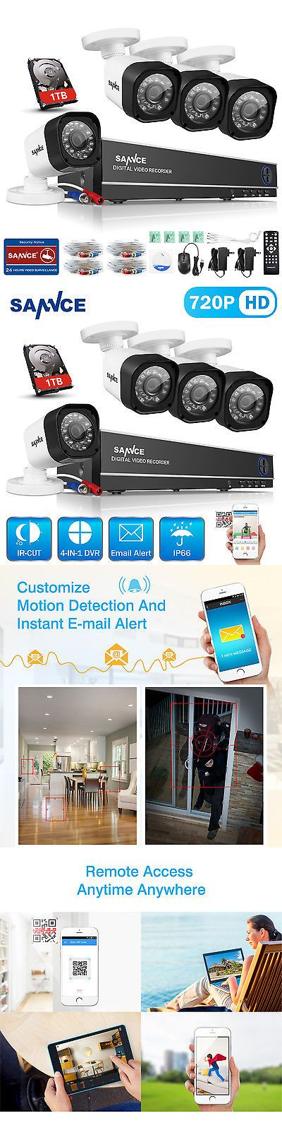 Security Cameras: Sannce 1080N 8Ch Hdmi Dvr Outdoor Home Video 1500Tvl Security Camera System 1Tb BUY IT NOW ONLY: $143.8