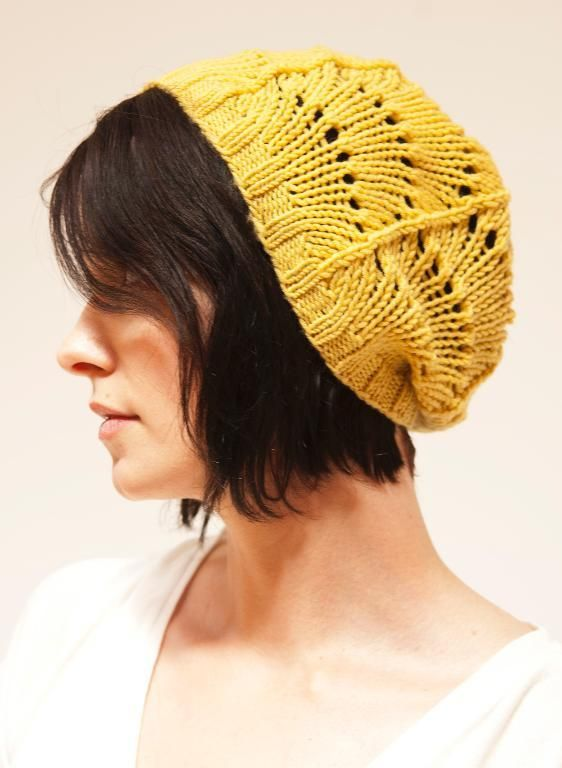 free hat pattern from craftsyLace Hats, Free Pattern, Slouchy Hat, Knitting Patterns, Knits Pattern, Hats Knits, Hats Pattern, Knits Hats, Scallops Lace