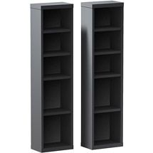 Walmart: Sereni-T 4-Shelf Modular CD / DVD Storage Towers, Set of 2, Black
