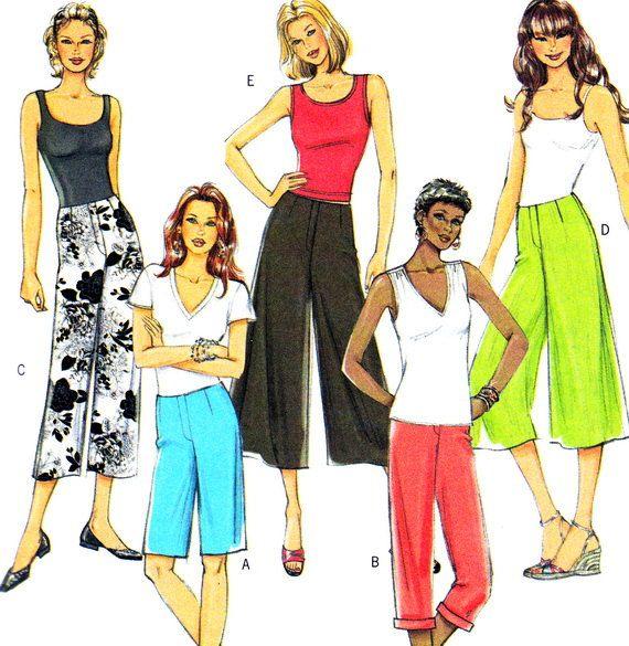 Butterick 4744 Womens Capri Pants Pedal Pushers by paneenjerez, $6.00