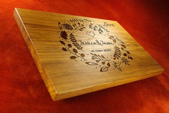 Custom wood signs Names engraved Wedding presents by Smileboards