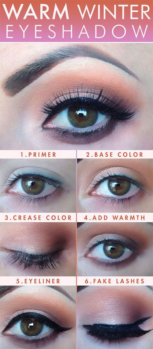 Easy Step By Step Winter Make Up Tutorials For Beginners & Learners 2015 | Modern Fashion Blog