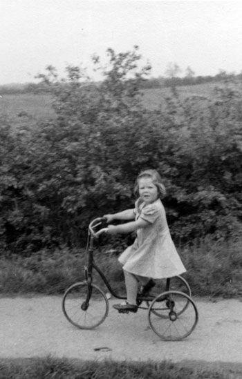 Rose on trike WWII