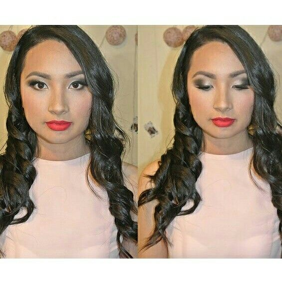 Glamourous red lips