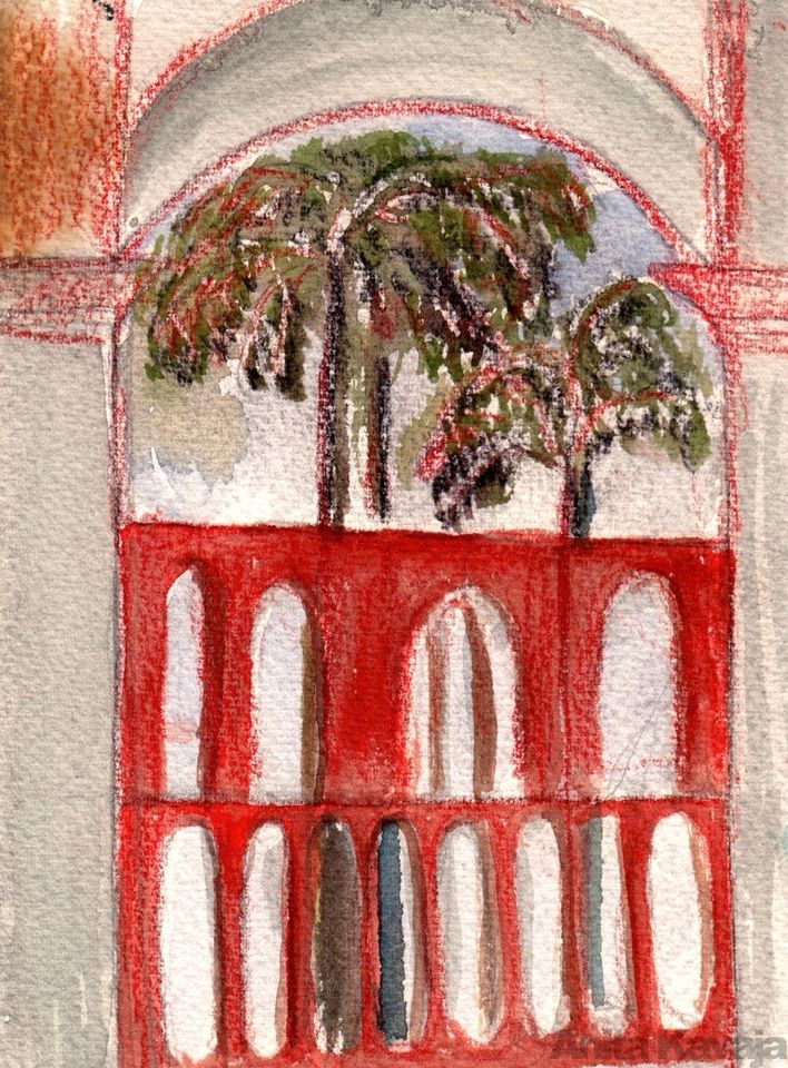 Palm and Churches - Anita Kavaja