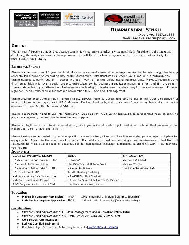 Aws Cloud Engineer Resume Inspirational Cloud Consultant Devops Engineer Resume Cv Job Resume Examples Job Resume Teacher Resume