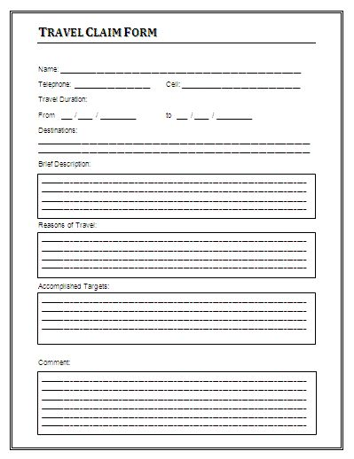 Free Travel Claim Form Certificate Templates Pinterest Free - disability application form