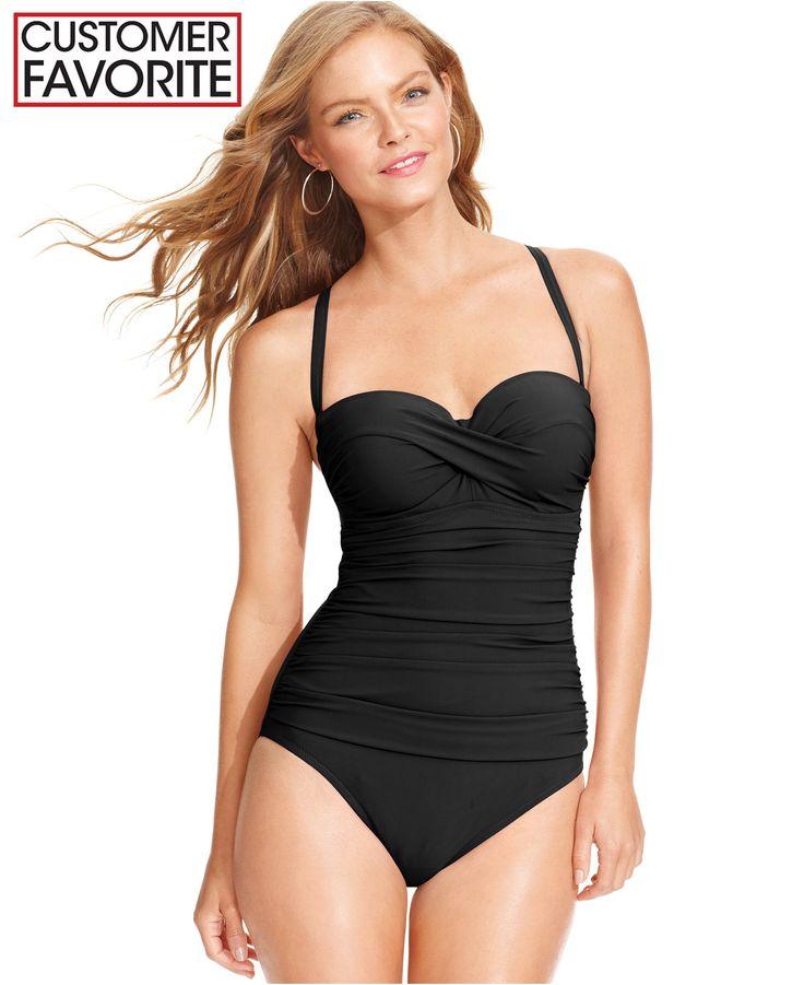Profile by Gottex Bandeau D-Cup One-Piece Swimsuit - Swimwear - Women - Macy's