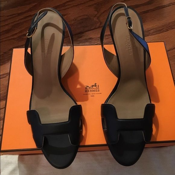 Brand new Hermes sandals/heels New with box! Beautiful, just too big Hermes Shoes Heels