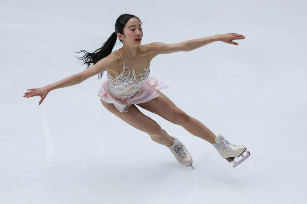 Marin Honda of Japan performs during the Ladies Short Program on Day 1 of the ISU Grand Prix of Figure Skating at on November 3, 2017 in Beijing, China.