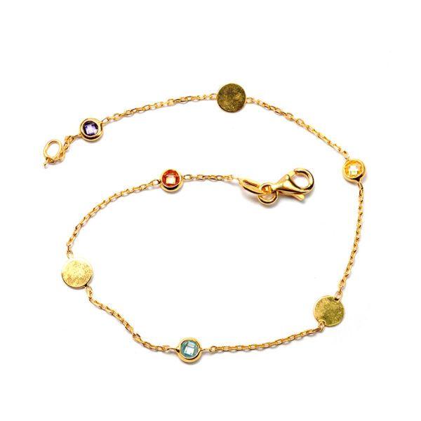Βραχιόλι χρυσό Κ14 ζιργκόν  8518
