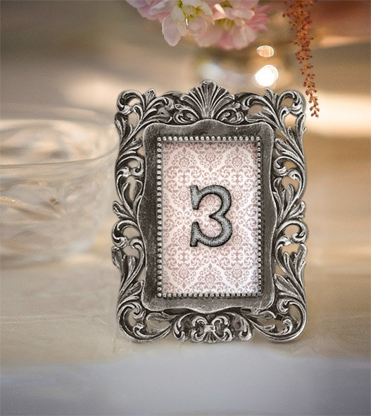 Vintage Victorian Wedding Table Number Sign In Frame 1 9. $72.00, Via Etsy