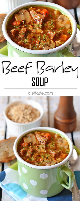 Beef Barley Soup - easy and healthy meal, rich in flavor of beef, vegetables and seasonings