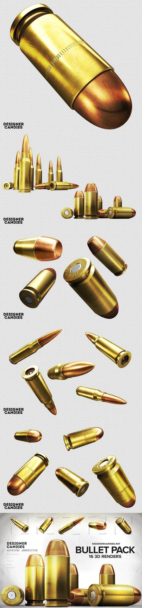 3d Bullet Renders Pack Rendering Bullet Design