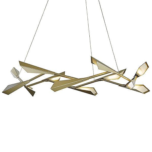 Hubbardton Forge Quill Large LED Chandelier – 135005-1001 in Gold