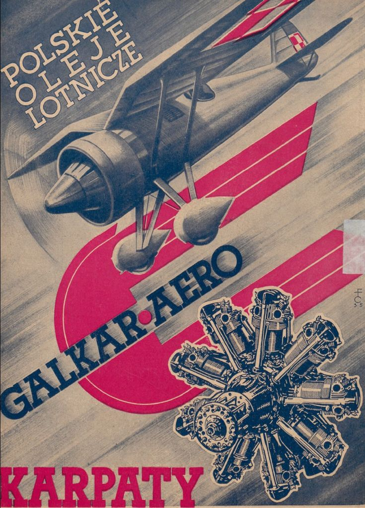 Reklama: firma Galkar-Aero Karpaty (Polskie Oleje Lotnicze, 1934-36 r.)