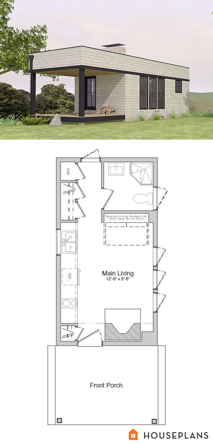 On Pinterest Small Homes One Bedroom And Cottage Floor Plans